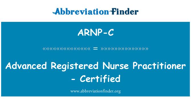 ARNP-C: Avanzada enfermera registrada - certificado