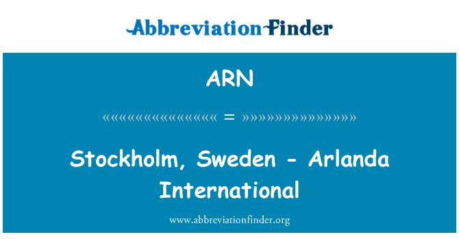 ARN: Stockholm, Sweden - Arlanda International