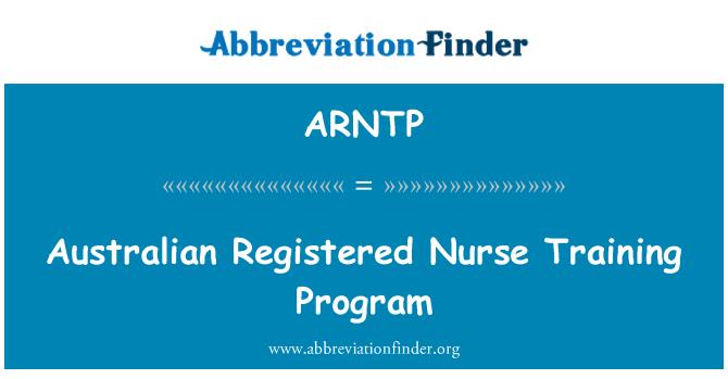 ARNTP: Australian Registered Nurse Training Program
