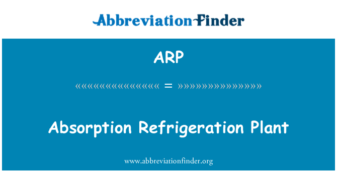 ARP: Absorption Refrigeration Plant