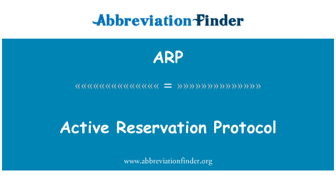ARP: Active Reservation Protocol