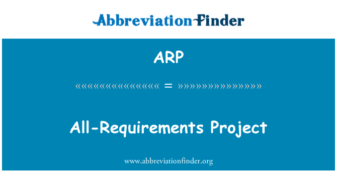 ARP: All-Requirements Project