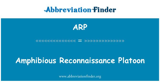 ARP: Amphibious Reconnaissance Platoon