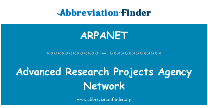 advanced research projects agency network
