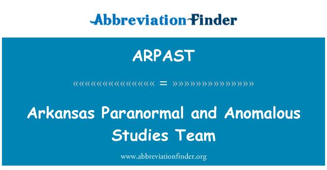 ARPAST: Arkansas Paranormal and Anomalous Studies Team