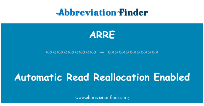 ARRE: Automatic Read Reallocation Enabled