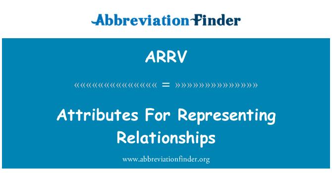 ARRV: Ciri-ciri untuk mewakili hubungan