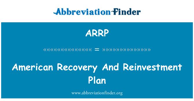 ARRP: 美国复苏和再投资计划