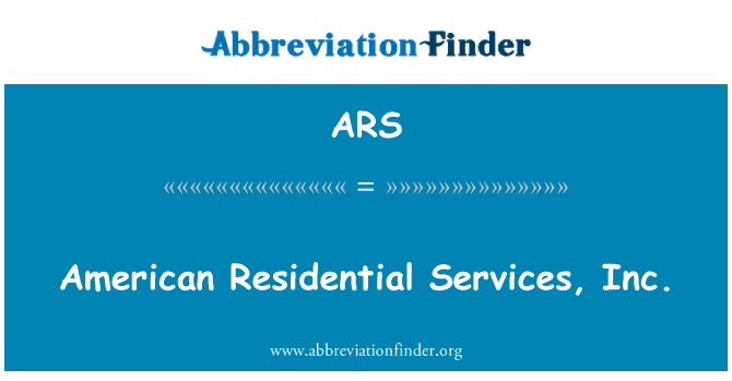 ARS: American Residential Services, Inc.
