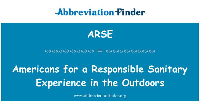 ARSE: Americanos por un responsable sanitario experiencia al aire libre