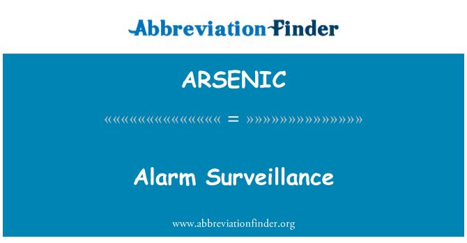 ARSENIC: Pengawasan Penggera