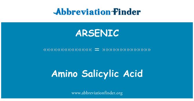 ARSENIC: Amino Asid salisilik
