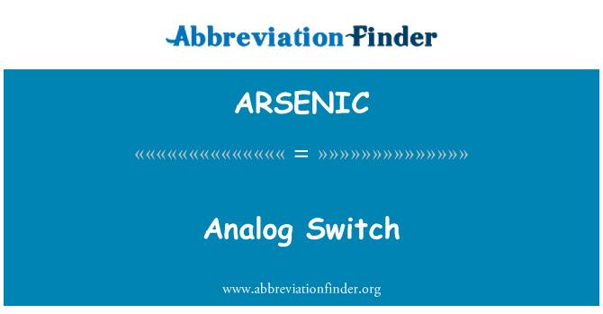 ARSENIC: Suis analog