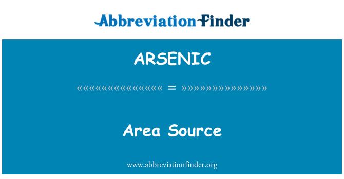 ARSENIC: Kawasan sumber