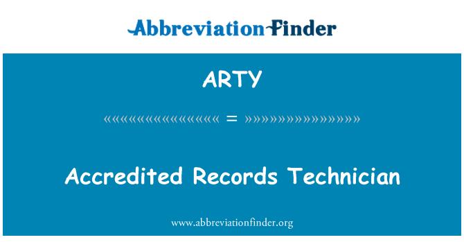 ARTY: Juruteknik Bertauliah rekod