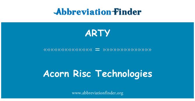 ARTY: 橡子 Risc 技术