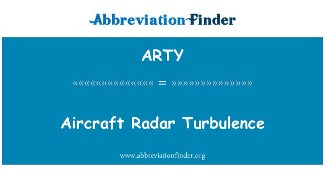 ARTY: 飞机雷达湍流