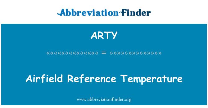 ARTY: Havaalanı referans sıcaklığı