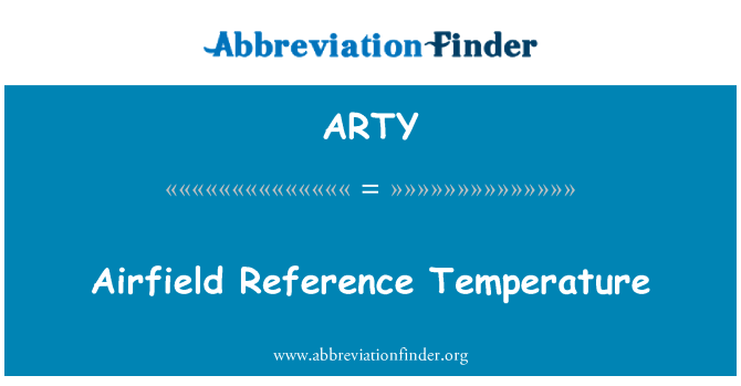ARTY: 机场参考温度