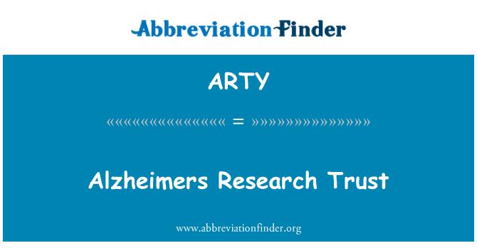 ARTY: Tabung Amanah Penyelidikan Alzheimers