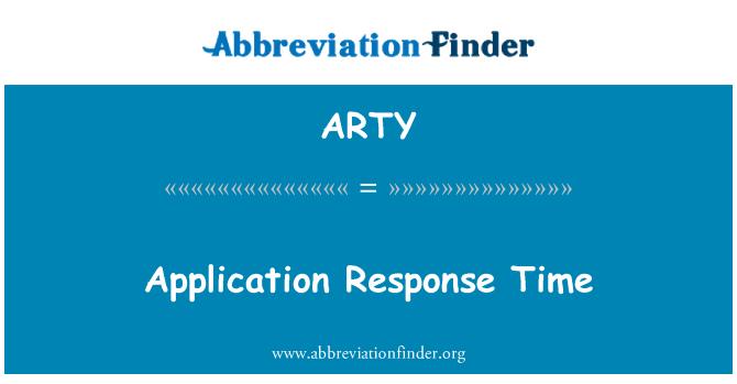 ARTY: 应用程序响应时间
