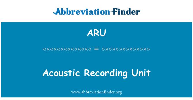 ARU: Acoustic Recording Unit