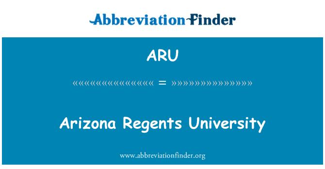 ARU: Arizona Regents University