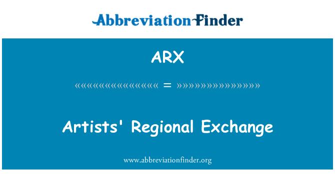ARX: Artists' Regional Exchange