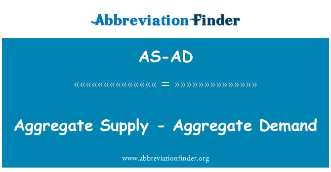 AS-AD: Aggregate Supply - Aggregate Demand