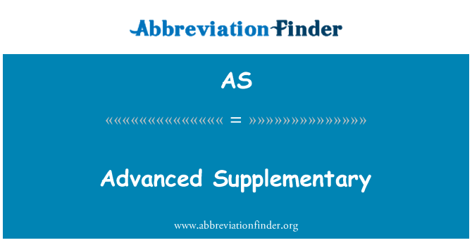 AS: Advanced Supplementary