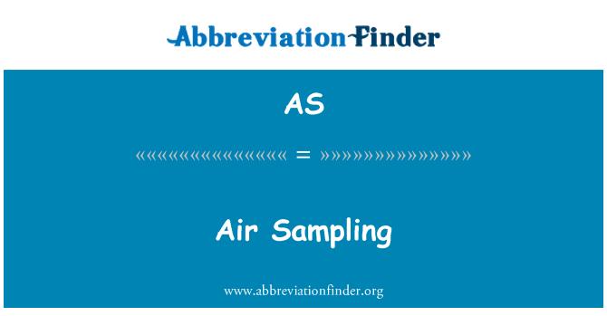 AS: Air Sampling