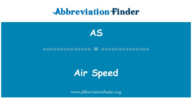 AS: Air Speed
