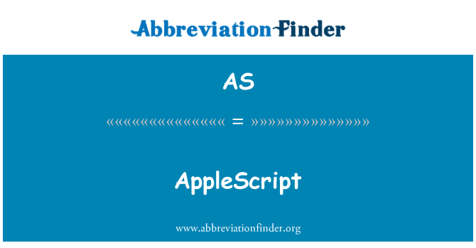 AS: AppleScript