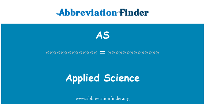 AS: Applied Science