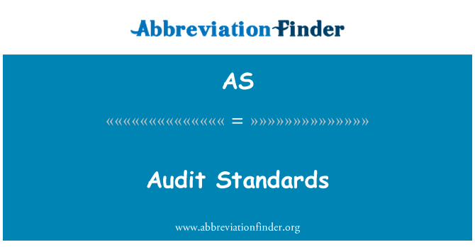 AS: Audit Standards