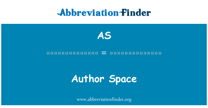 AS: Author Space