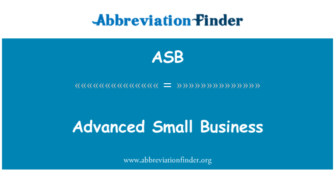 ASB: Advanced Small Business