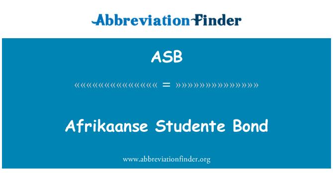 ASB: Afrikaanse Studente Bond