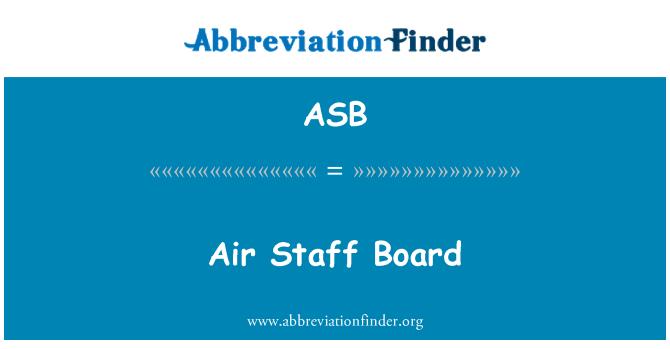 ASB: Air Staff Board