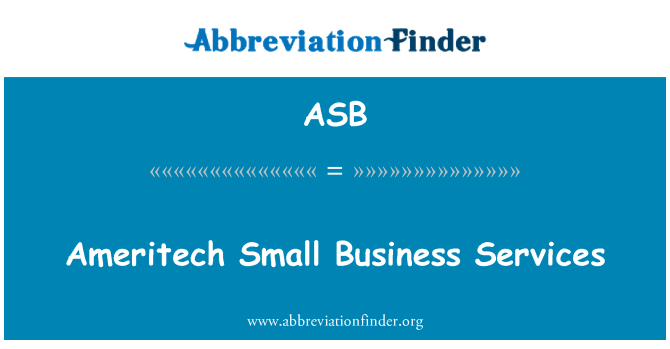 ASB: Ameritech Small Business Services
