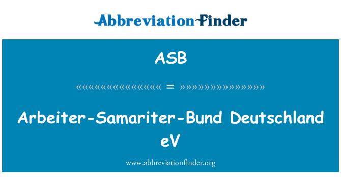 ASB: Arbeiter-Samariter-Bund Deutschland eV