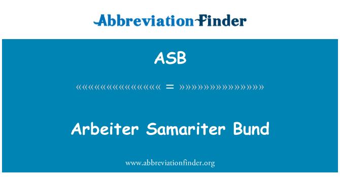 ASB: Arbeiter Samariter Bund