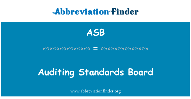 ASB: Auditing Standards Board