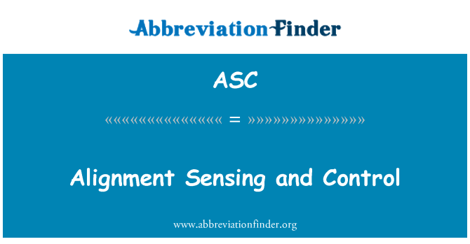 ASC: Alignment Sensing and Control