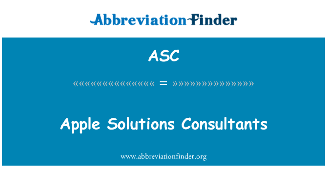 ASC: Apple Solutions Consultants