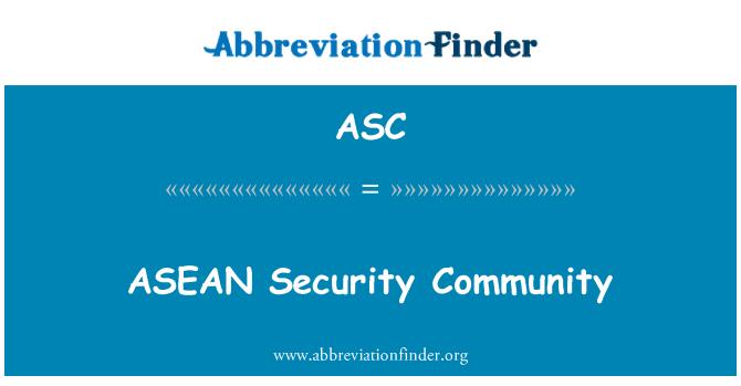 ASC: ASEAN Security Community