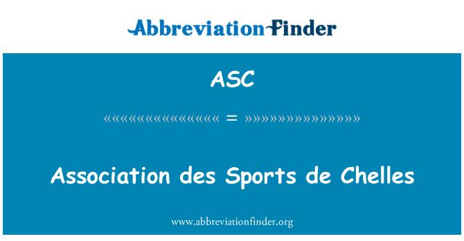 ASC: Association des Sports de Chelles