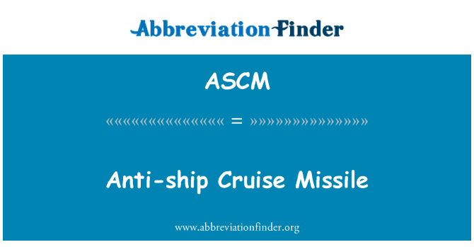 ASCM: Misil antibuque