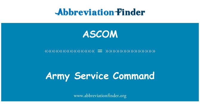 ASCOM: Army Service Command