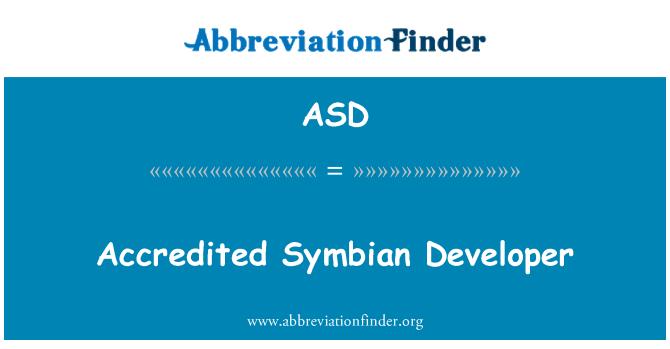 ASD: Accredited Symbian Developer